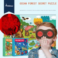 Bộ ghép hình Secret Forest Puzzle của Mideer
