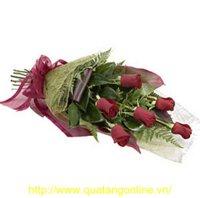 Bo hoa hong nhung HT026