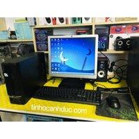 Bộ máy tính để bàn mini pc Acer Core2 Ram 4G HDD 250g kèm màn hình 17 TẶNG kèm phím chuột đầy đủ WIFI LOA văn phòng