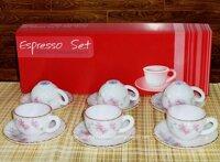 Bộ tách trà xoắn nhỏ Cúc Hồng