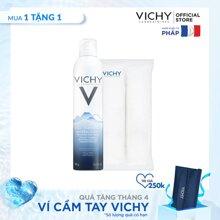 Bộ Xịt khoáng dưỡng da Vichy Mineralizing Thermal Water 300ML và Bông tẩy trang cao cấp LazadaMall