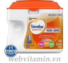 Sữa bột Abbott Similac Sensitive - hộp 638g (chống đầy hơi và nôn trớ)