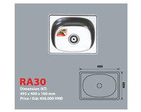 Bồn rửa chén 1 hộc đơn giá rẻ RA30 - Đại Thành