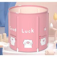 Bồn tắm ngâm người, thảo dược gấp gọn cho người lớn và trẻ nhỏ BP01 - Bể hồng A12