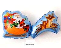 Bong bóng kiếng hình xe tuần lộc Noel khổng lồ (95 x 48cm)