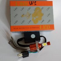 Bóng đèn led xe máy thương hiệu LBD chân H4 - 40W (Trắng-Vàng)
