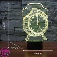 Bóng đèn ngủ tiết kiệm điện Den ngu tphcm Đèn Ngủ 3D Led 7 Màu Hình Đồng Hồ Cộng Nghệ Mới  đèn ngủ đèn trang trí vô cùng độc đáo.BH UY TIN BỞI DUDU SHOP. Mã số : NBN5039