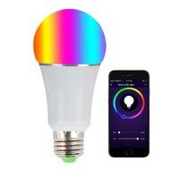 Buybowie E27 Thông Minh LED Đèn Hoạt Động Với Alexa Và Google Nhà WIFI Bluetooth Màu Sắc Thay Đổi RGB 6000K Mờ Sinh Thái Thông Minh Đèn Măng Xông Tính Giờ Tương Thích Với IOS Android
