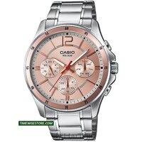 CASIO QUARTZ MEN'S WATCH MTP-1374D-9AVDF 43MM