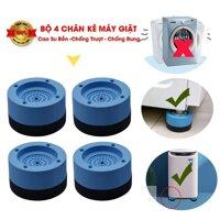 Chân máy giặt 4 miếng cao su cao cấp chống ồn chống rung (LOẠI 1)