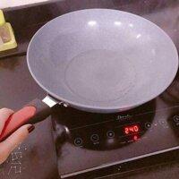Chảo chống dính loại nào tốt Chảo đá Chảo bếp từ Chảo điện Dụng cụ nhà bếp hiện đại Chao chong dinh bep tu - Chảo vân đá chống dính sâu lòng 32CM tiện lợi cho mọi căn bếp của bạn