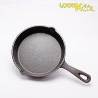 Chảo gang chiên rán nướng xào không dính - CAST IRON bếp từ 15.5cm LazadaMall