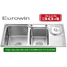 Chậu rửa chén 2 hộc Erowin 9247VA