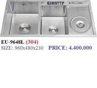 Chậu rửa chén Handmade Inox SUS 304 EUROTTP EU-9648L (304) có khay đa năng
