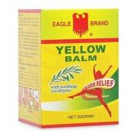✅[CHÍNH HÃNG] DẦU CÙ LÀ VÀNG CON Ó EAGLE BRAND YELLOW BALM (20G) - Cao xoa Eagle Yellow Balm 20g