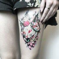 Chống Thấm Nước Tạm Thời Miếng Dán Hình Xăm Hoa Datura Vòng Cổ Giả Tatto Flash Tatoo Tatouage Miếng Dán Chân Cánh Tay Cho Nam Nữ Nữ