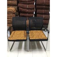 Combo 2 tấm chiếu hạt gỗ Pơ Mu , Lót ghế xoay văn phòng hạt gỗ pơ Mu hạt 18ly  Sản phẩm y hình mô tả - hình thật