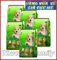 Combo 5 gói thức ăn hạt cho CHÓ con. CLASSIC PETS PUPPY. Hương vị sữa 400g/gói. Hàng Thái Lan.