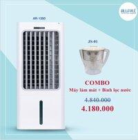Combo Quạt làm mát hơi nước Allfyll Thái Lan Model AR-1350 + Bình lọc nước uống trực tiếp mini JS-01