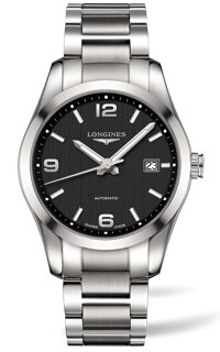 Conquest Automatic Black Dial Stainless Steel Men's Watch L2.785.4.56.6, 40mm