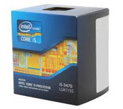 CPU Intel Core i5-3470 (3.2GHz turbo up 3.6GHz, 6MB L3 cache, Socket 1155)
