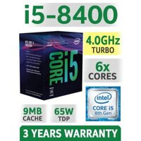 CPU Intel Core I5 8400 Tray 2.8Ghz Turbo Up To 4Ghz / 9MB / 6 Cores 6 Threads / Socket 1151 V2 (Coffee Lake )