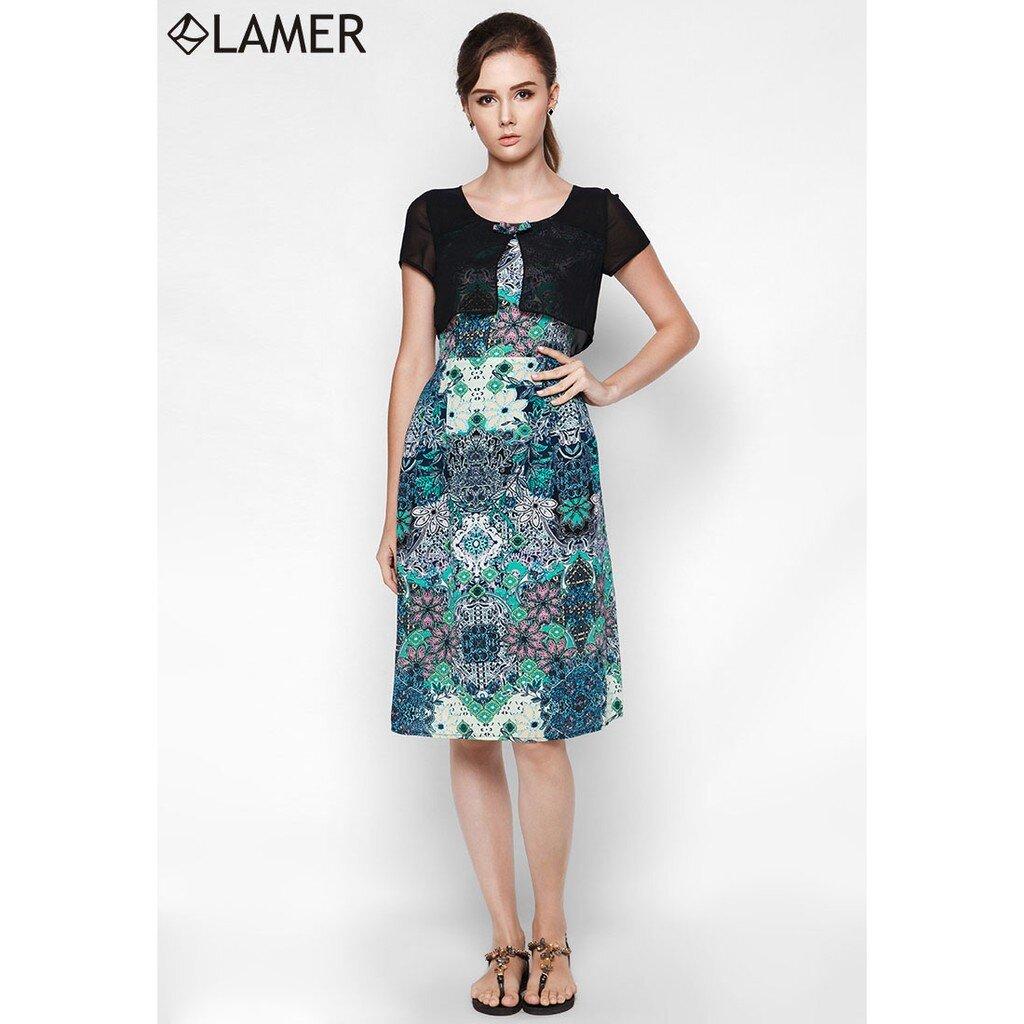 Đầm maxi phủ áo croptop Lamer LM03605632