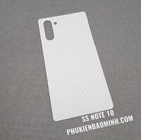 Dán lưng 3D vân Cacbon Samsung Note 10/ Note10