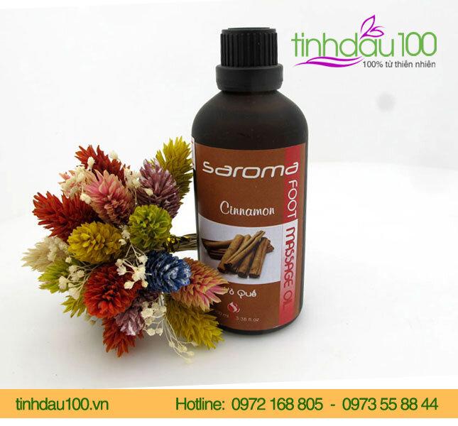 Dầu massage chân vỏ quế SAROMA BFC0272