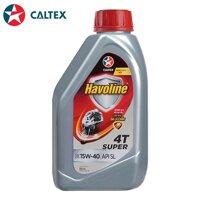 Dầu nhớt Caltex Havoline Super 4T SAE 15W-40 0.8L (xe số)