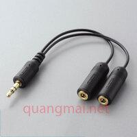 Day cap chia 2 cuc am jack 3.5mm cho Ipod Elecom IPC-ASBK