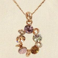 Dây chuyền mạ vàng mặt đá quý Viennois VO42521N