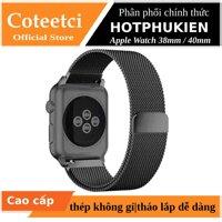Dây đeo thay thế Apple Watch 38mm / 40mm hiệu Coteetci thép không ghỉ - Phân phối bởi Hotphukien [bonus]