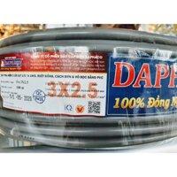 Dây điện đaphaco 3x2.5 2 vỏ bọc bán lẻ 1met giá đã chiết khấu