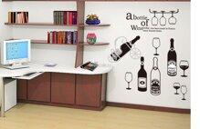 Decal trang trí dán tường chai rượu to
