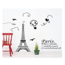 Decal dán tường Tháp Eiffel 1 - PK72