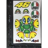 Decal, sticker AGV Con Rùa Tartaruga 46