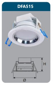 Đèn âm trần led tán quang 15w DFA515