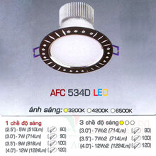 Đèn led âm trần Anfaco AFC-534D - 9W, 3CĐ