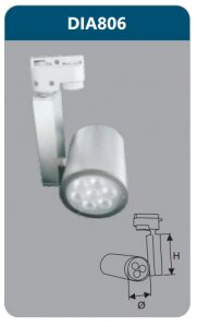 Đèn led chiếu điểm thanh ray 7w DIA806