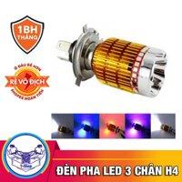 Đèn led xe máy H4 3 màu