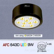 Đèn led âm trần Anfaco AFC 643D - 9W
