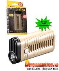 Den pin Du lich-Cam trai Nitecore MT22A voi 260Lumens chieu xa 100m bong CREE XP-G2 S3| Bao hanh 5 nam