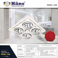 Đèn sưởi 4 bóng âm trần Hans H4B