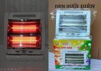 Đèn sưởi ấm hồng ngoại 2 bóng cao cấp + Bảo Hành 2 năm + Chế độ quay đảo ấm (bộ 1 sản phẩm)