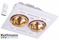 Đèn Sưởi Âm Trần 2 bóng Kottmann K9-R ( điều khiển )