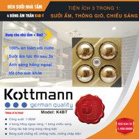 Đèn sưởi âm trần 4 bóng Kottmann K4B-T