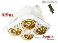 Đèn sưởi âm trần Braun BU04GR (hàng chính hãng)