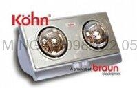 Đèn sưởi nhà tắm Braun-Kohn 2 bóng KN -02N