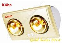 Đèn sưởi nhà tắm Braun Kohn KU02G 2 bóng (Hàng chính hãng)